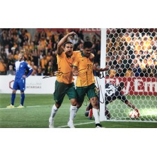 """Tim Cahill and Massimo Luongo Hand Signed 12x8"""" Photograph"""