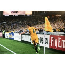 """Tim Cahill Hand Signed 12x8"""" Photograph"""