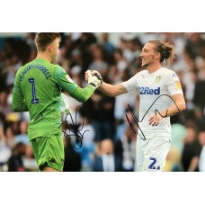 """Bailey Peacock-Farrell and Luke Ayling Hand Signed 12x8"""" Photograph"""