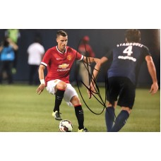 "Morgan Schneiderlin Hand Signed 12x8"" Photograph"