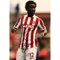 "Wilfried Bony Hand Signed 12x8"" Photograph"