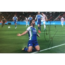 "Will Grigg Hand Signed 12x8"" Photograph"